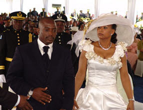 Jospeh Kabila et Olive Lembe