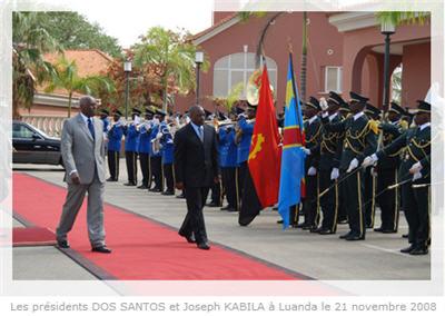 Joseph Kabila et Eduardo Dos Santos