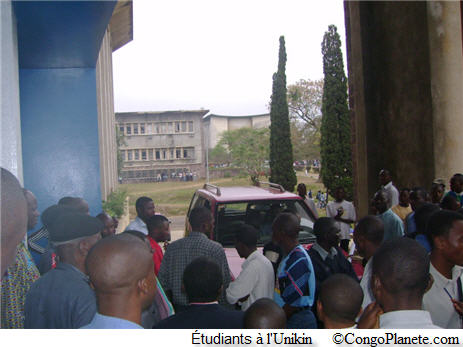 Étudiants a l'Université de Kinshasa