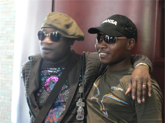 Kenneth Seema and Koffi Olomide in South Africa