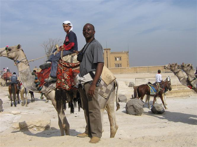 On holiday in egypt