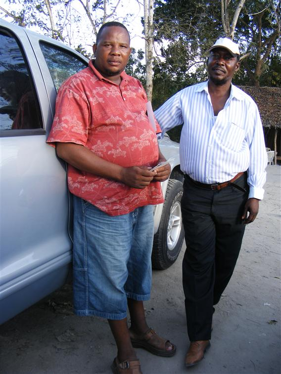 Mr AYOBE Ntumba & Majdi a Check point DAR/TZ 2009