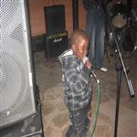 My son at a congolese music concert in harare