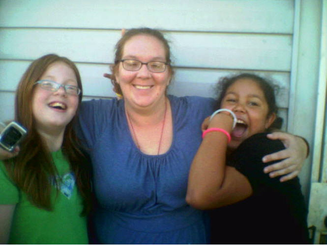 This is my cousin Gabby with Myself and My daughter, Cheyenne!